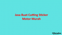 Jasa Buat Cutting Sticker Motor Murah